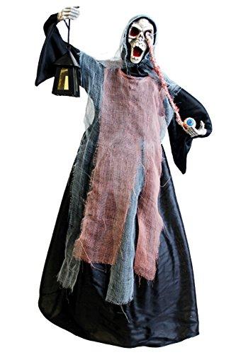 Unbekannt Wackelndes Skelett ca.60cm blinkenden Augen & lachende Stimme Fasching Halloween (0290910)