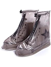 Jiobapiongxin Moda antideslizante impermeable hombres mujeres zapatos reutilizables cubre el verano color sólido cubierta protectora de