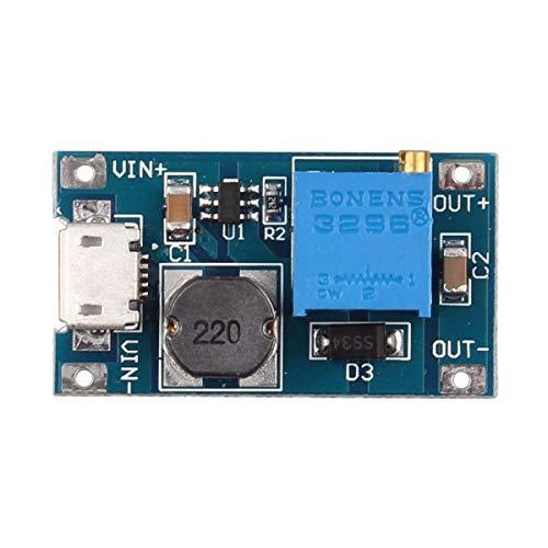 HAPPY-DZ praktisch 2 EIN Booster der DC-DC-Step Up Power Modul Eingang 2-24V5 V9 V 12 V 28 V mit Micro USB für Arduino V9 Micro Usb