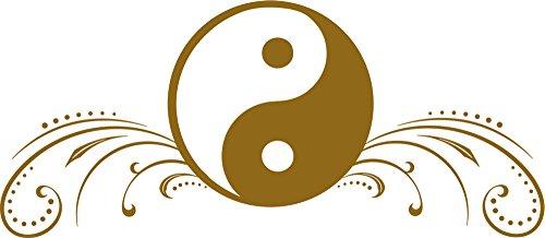 GRAZDesign Wandtattoo Meditation Yin Yang Zeichen - Zen Buddhismus Deko / 69x30cm