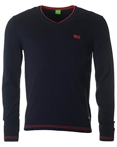 hugo-boss-green-vime-plain-knit-v-neck-jumper-in-navy-size-l
