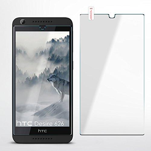 MoEx OneFlow 9H Panzerfolie für HTC Desire 626G | Panzerglas Display Glasfolie [Tempered Glass] Screen Protector Glas Displayschutz-Folie für HTC Desire 626G/626 Schutzfolie