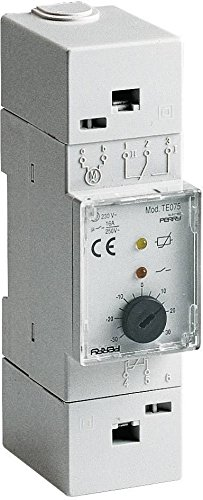 Elektronischer Thermostat für Schalttafeln Perry 1TM TE077Modular 2DIN 35mm Bereich Einstellung 0°C/+ 60°C Eingang Sonde Remote Länge Kabel Sonde Ferne Max 400m 1Ebene Temperatur LED Angabe Zustand Relais LED Thermostat in Italien tut -