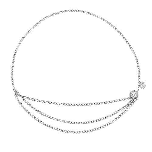 TOOGOO Frauen Metall Kette Retro Gürtel Hohe Taille Hüfte Münze Charme Bund K?rper Kette Silber - Taille Hüften