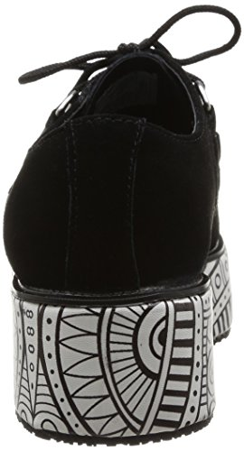 T.U.K. Pointed Stacked & Wrapped Creepers A8872, Unisex-Erwachsene High-Top Sneaker Schwarz
