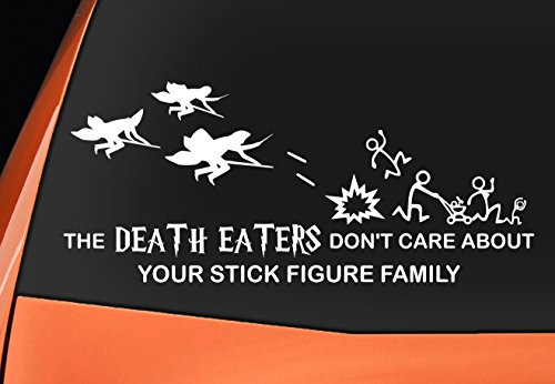 Harry Potter Inspired 'i Don' t Care About your Mangiamorte stick figure  Family