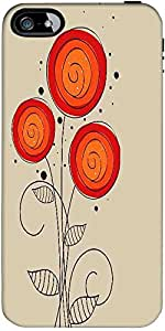 Snoogg Abstract Floral Background Designer Protective Back Case Cover Forfora...