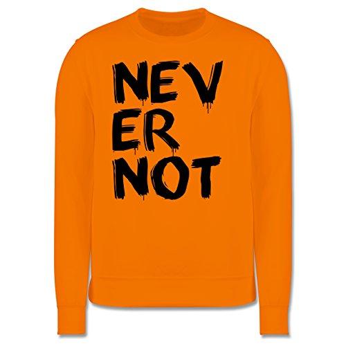 Statement Shirts - Never not - niemals nie - Herren Premium Pullover Orange
