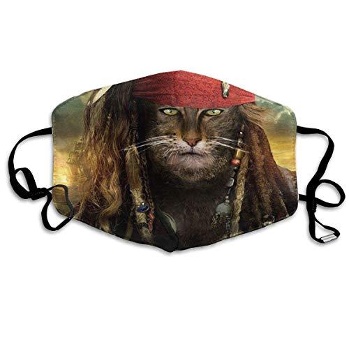 Anti-Staub-Maske Katze ist Pirat Anti-Verschmutzung, waschbar, wiederverwendbare Mundmasken (Katze Masquerade Maske)