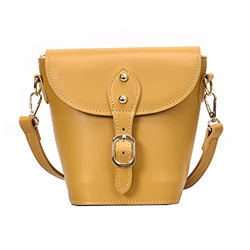 Mitlfuny handbemalte Ledertasche, Schultertasche, Geschenk, Handgefertigte Tasche,2019 Woman Fashion Trend Wild Handtasche Mini Bucket Single Shoulder Messenger Bag