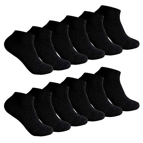 L&K L&K 12 Paar Damen Sneaker-Socken Füßlinge 35/38 schwarz