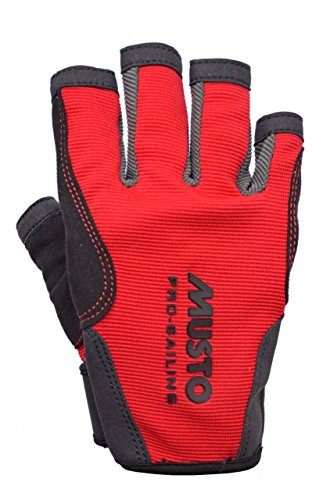 Musto Essential Sailing Short Finger Gloves RED AS0813 Sizes- - Large