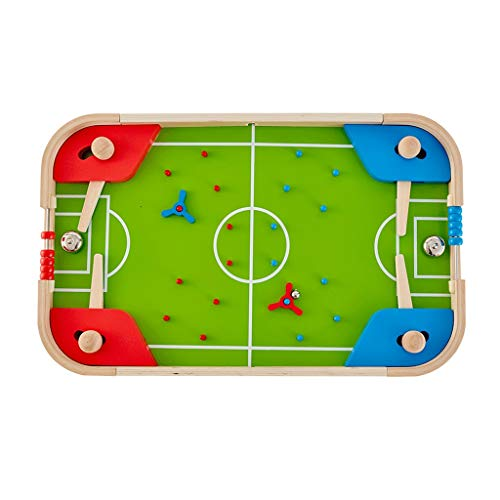 Table Football children's table pinball machine, manual football toy double game toy Haruko interactive table toy (Color : Green, Size : 57.4 * 35.4 * 6.5cm)