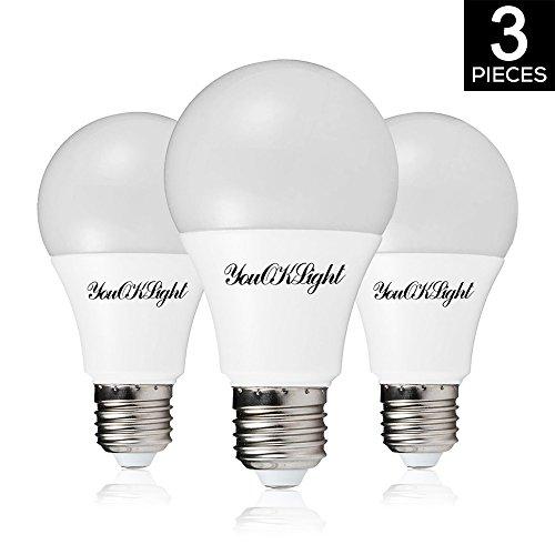 YouOKLight E27 12W LED Glühbirne, nicht dimmbar, 3000K Warmweiß, 100W äquivalent, 220 ° Strahlwinkel für Innenbeleuchtung, AC85-265V, 3-er Pack
