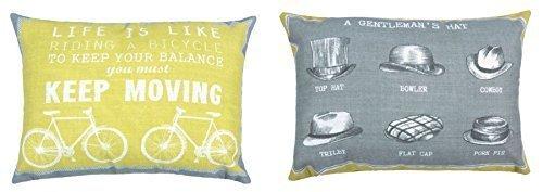 vintage-bicicleta-caballeros-sombreros-amarillo-mostaza-gris-funda-para-cojin-28x-38cm