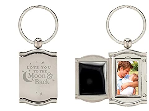LOVE YOU TO THE MOON AND BACK PHOTO KEYRING for