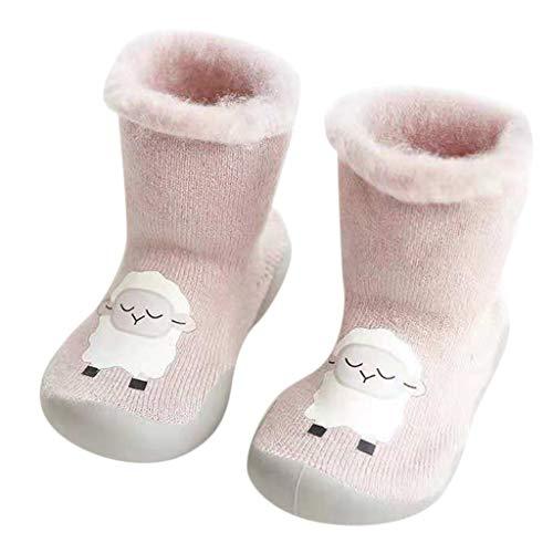 Chaussures Premiers Pas BéBé Fille Garçon Chaussettes de Noël Doux Souple Princesse, Binggong Chaussure Fille Père Noël Doux Sole Prewalker Chaussures de Maison antidérapantes pour BéBé 0-22mois