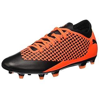 Puma Herren Future 2.4 FG/AG Fußballschuhe, Schwarz Black-Shocking Orange 02, 46 EU