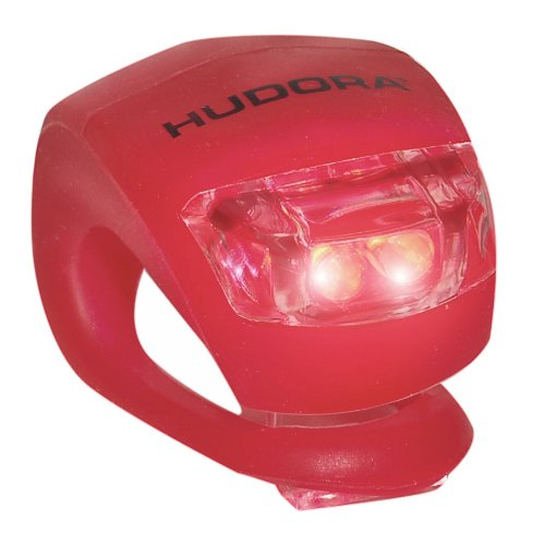 Hudora LED Licht für Lenker Lenkerlicht für Roller Scooter Cityroller Big Wheel 125 144 205 (ROT)