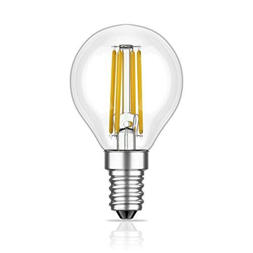 Frost Klar Weiße Form (ledscom.de E14 LED Lampe Filament G45 3,4W =32W warm-weiß 350lm A++ für innen und außen)