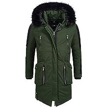 Marikoo Warrior Herren edel Luxus Winterjacke Mantel Parka Winter Jacke  warm gefüttert Gr. S- ae3f8a308a
