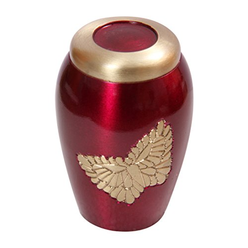 Memorial Messing Urns, Lovely Golden fliegenden Schmetterling pink Urne für Asche - 3