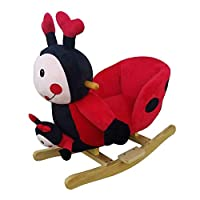 Oypla Baby Childrens Kids Plush Ladybird Rocker Chair with Sound