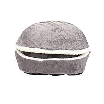 Hiver Chaud Animal Chiot Chat Lit Maison Coussin Moitié Couvert Lit Sac De Couchage Détachable Mignon Hamburger Forme Lit