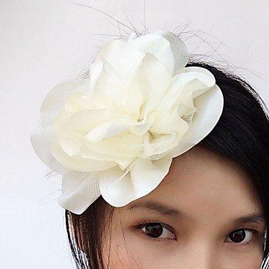 HJLHYL Satin T¨¹ll Kopfschmuck-Hochzeit Besondere Anl?sse Freizeit Blumen Haarspangen 1 St¨¹ck , peach (Sse Kurz)