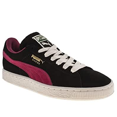 Puma Suede Classic - 8 Uk - Black & Pink - Suede