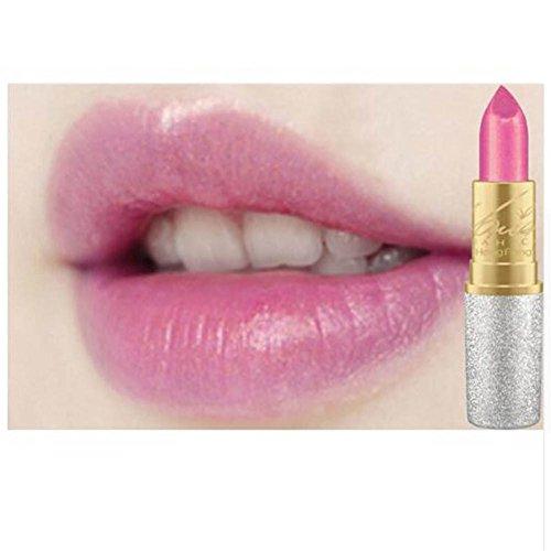 Lip Pigment (Blue Vessel Glitzer Lip Pigment Kosmetik Make-up Nackten Rosa Gold Glitter Lippenstift Langlebige Wasserdichte Lip Gloss kit (01))