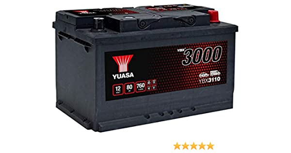 Batterie Yuasa SMF YBX3110 12V 80ah 760A YUASA pas cher à