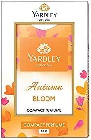 Yardley Autumn Bloom Compact Perfume, Rich oriental pleasant fragrance, Amber, sandalwood, rose and apple blos