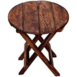 Aafiya handicrafts® Beautiful Foldable Wooden Side Table End Table