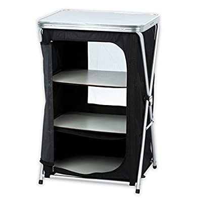 Foldable Camping 3 Tier Shelves with aluminium Frame-Reiseschrank Chest of Drawers Folding Camping Wardrobe / Camping