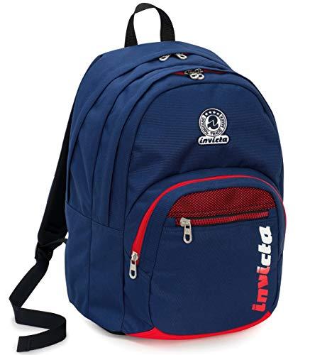 Zaino format invicta kupang, 31 lt, blu, doppio scomparto, scuola & tempo libero