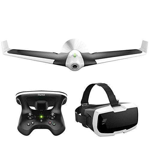 Parrot Disco FPV Drone nel Set con skykontroller e occhiali bianco/nero