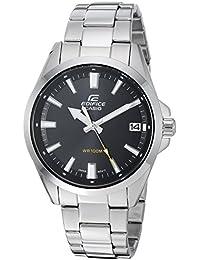 Casio Edifice - Reloj Casual de Cuarzo para Hombre, Acero Inoxidable, Color Plateado (
