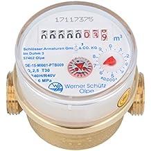 Schütz 79210 - Contador de agua de chorro único para viviendas Q3 - R40 (agua