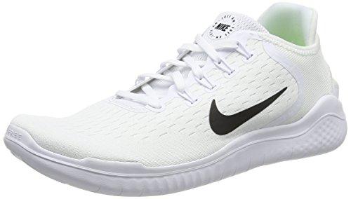Nike Herren Free RN 2018 Mesh Laufschuhe, Weiß (Bianco/Nero 100), 44.5 EU (9.5 UK)