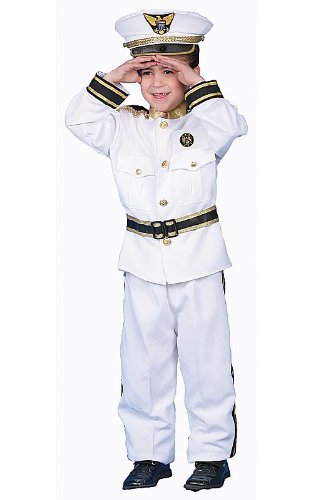 Deluxe Navy Admiral Costume Set Size Toddler 2 by Dress Up ()