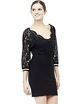 06a555b5e1f Guess Robe Jaqueline Noir Taille L  Amazon.co.uk  Clothing