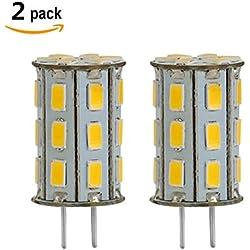 12V 5W G6.35 LED bianca caldo 3000K Bi-Pin JC Tipo 35W Equivalente T3 / T4 / T5 Lampadina G6.35 / GY6.35 Base LED per l'illuminazione sotto pensile Accent Puck luce Desk Lamp 2-Pack (5)