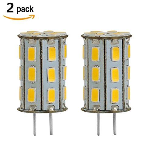 GY6.35 LED 12V DC/AC 5W als Ersatz für 35W Halogen Lampen ZSZT Warmweiß 3000K für Schreibtischlampe, Kristall Scheinwerfer-Birne ( 2 Packs ) (Base Bi-pin Gy6.35)
