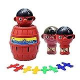 mxdmai Pirate Spiel Aktionsspiel Kinder und Familie Spielzeug Lustige Piraten Eimer Glück Stab Geschicklichkeit Spielzeug Party-Spiel zufällige Farbe (Mini)