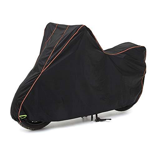 Preisvergleich Produktbild JLXJ Abdeckhauben für Möbelsets Motorradabdeckung Leichte wasserdichte UV-Motorradabdeckung für Alle Arten von Motorrädern (Color : Black-1,  Size : L-180CM)