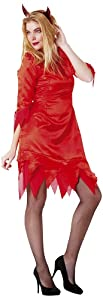 César - Disfraz de diablo para mujer, talla 38 (E622-001)