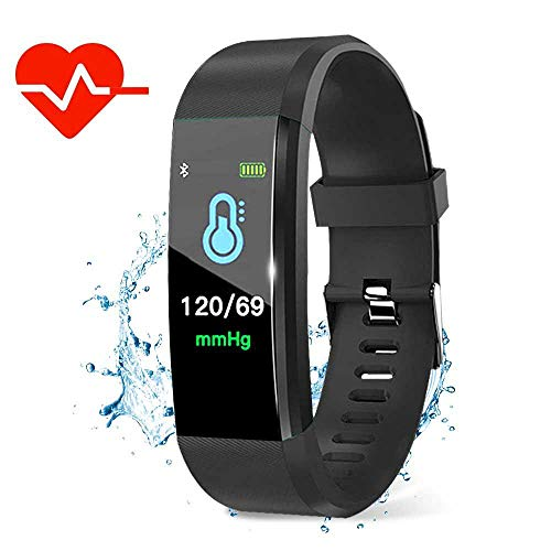 Womdee Fitness-Tracker HR-Monitor, Heart Rate Monitor Watch IP67 wasserdicht Tracker Fitness Aktivitätsprotokoll mit Schlaf-Monitor, Schritt-Zähler Kalorien Watch Smart Armband für Menschen Schwarz - Kalorien Zähler-monitor