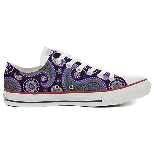 stomized - personalisierte Schuhe (Handwerk Produkt) Flowery Paisley Size 35 EU ()