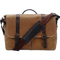 Ona The Brixton Camera & Laptop Messenger Bag, Field Tan